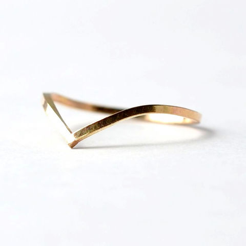 Gold Chevron Ring - product images  of