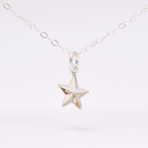 Minimalist Jewelry: Silver Star Necklace - product images  of