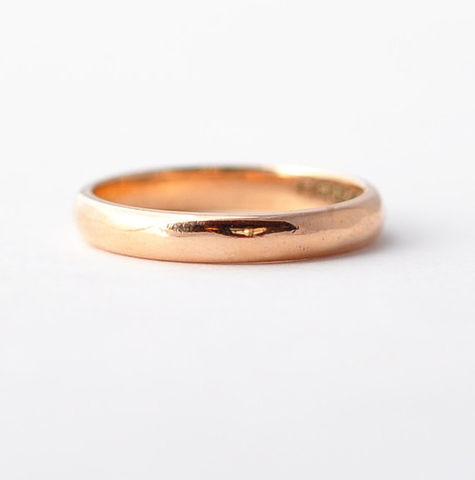 Simple,Wedding,Band:,Antique,,9K,Rose,Gold,,Size,5.25,Antique Simple Unisex Cheap Womens Mens Traditional Plain Matching Classic 9K Rose Gold Wedding Ring Band