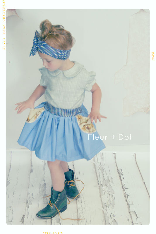 Autumn's Pastures Pocket Skirt with Attached Sash Fleur + Dot Autumn Winter 13 - product images  of