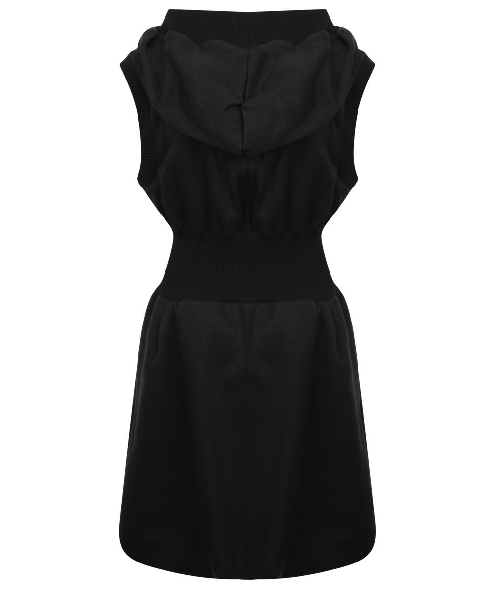 Sleeveless Hoodie Dress (Black) - product images  of