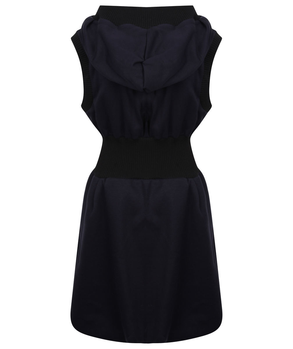 Sleeveless Hoodie Dress (Navy) - product images  of
