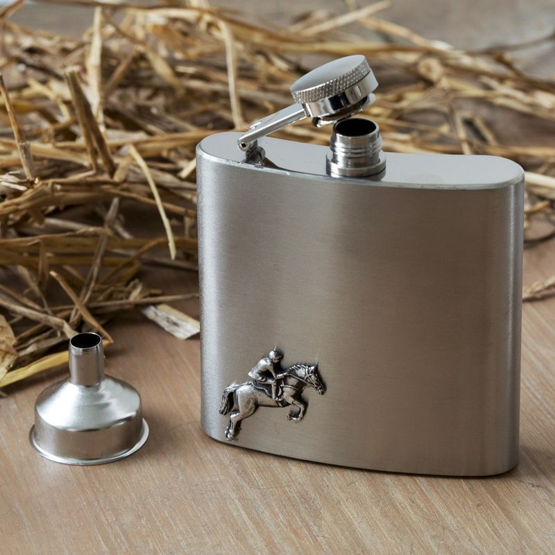 Horse Jumping Hip Flask - product image