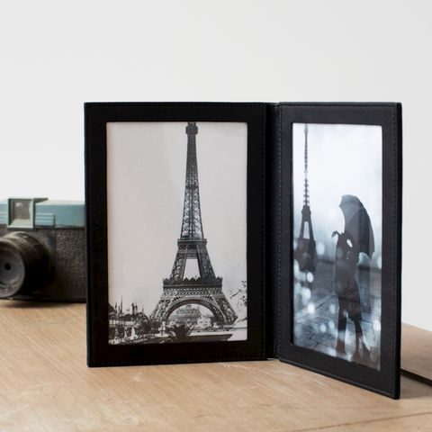Leather,Folding,Photo,Frame,black, brown, leather, folding, travel, photo, frame, double, mens, man, gift, grandparents