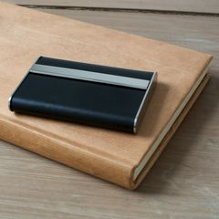 Black Leather Modern Card Case - product images  of