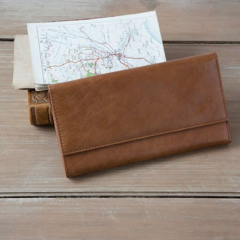 Rugged,Leather,Travel,Wallet,leather, travel, wallet, document, brown, red, mens, ladies