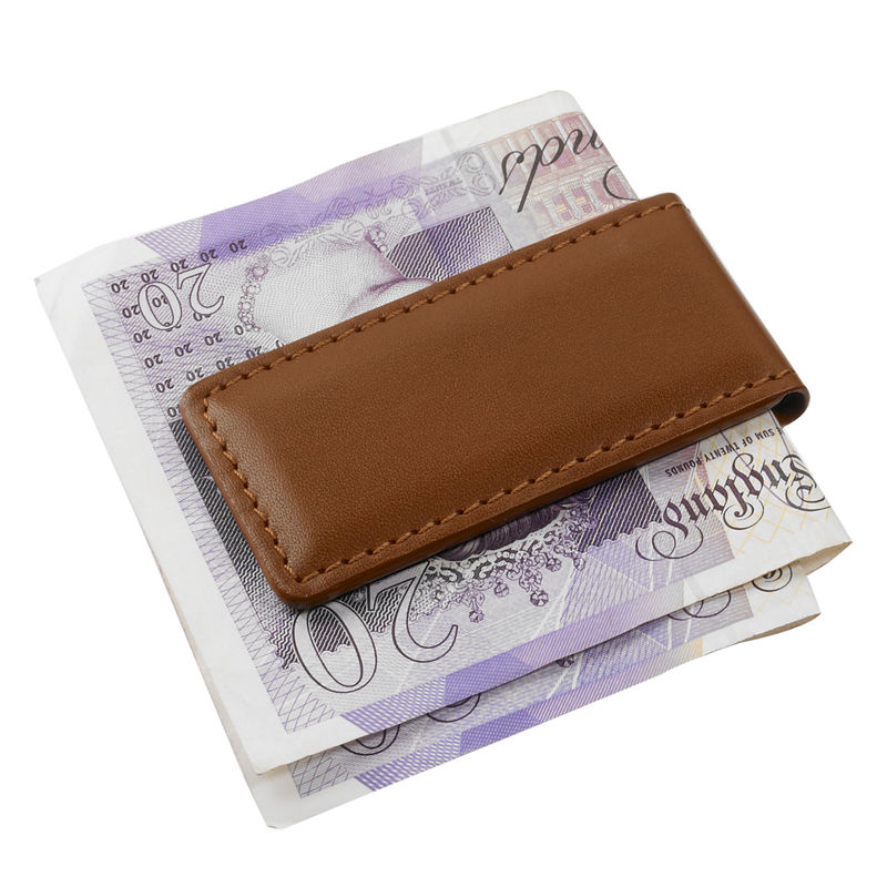 Italian Leather Money Clip - product images  of