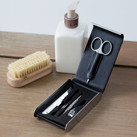 Modern,Manicure,Set,mens, manicure, grooming, set, kit, black, modern