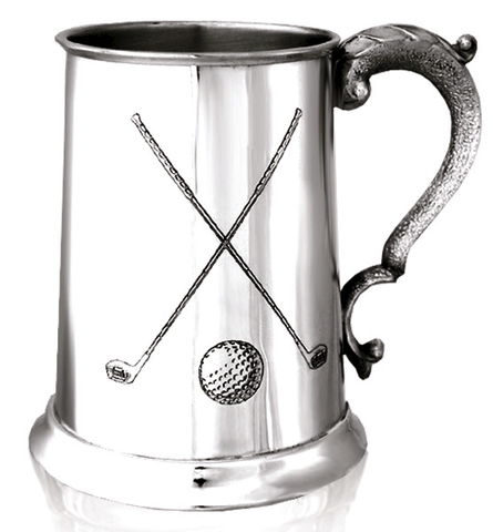 Golf,Clubs,Tankard,-,can,be,personalised,golf, clubs, pewter, tankard, gift, mans, mens, present, 21st, 18th