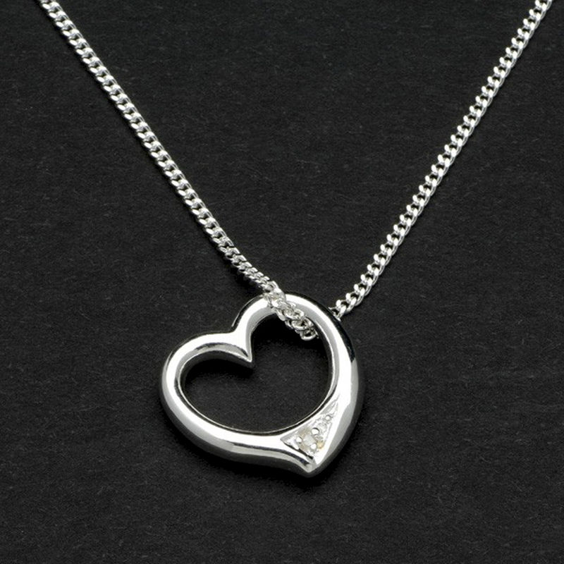 Sterling Silver Heart Pendant in Personalised Box - product images  of