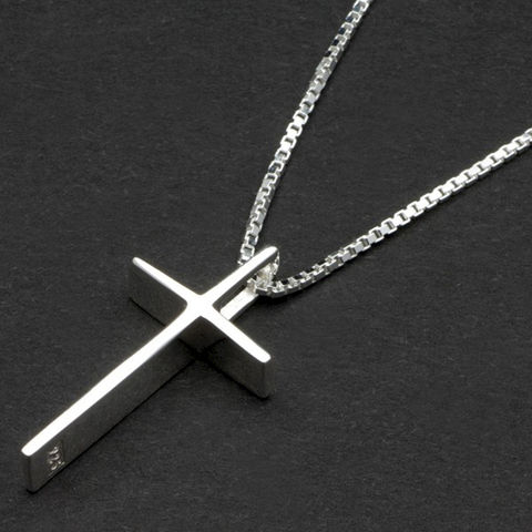 Sterling,Silver,Cross,Pendant,in,Personalised,Box,sterling, silver, cross, pendant, necklace, personalised, engraved, gift, lady, ladies, woman, ladys, present, religious, bridesmaid, wedding