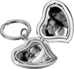 Heart Locket Photo Keyring - product images  of