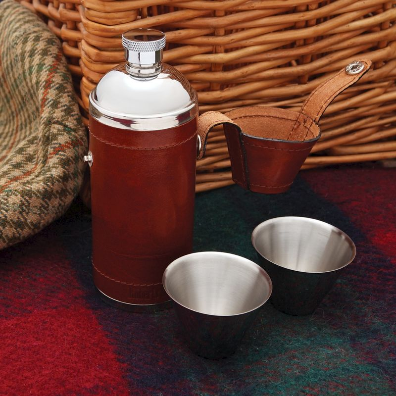 Round Hip Flask with 2 Cups - product image
