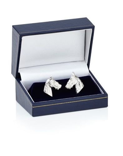 Sterling Silver Horse Head Cufflinks - product images  of