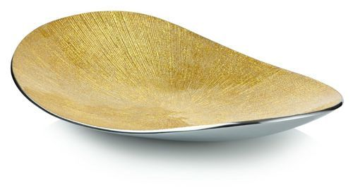 Gold Oval Serving Plate - product image