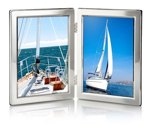 Silver Folding Double Photo Frame - product image