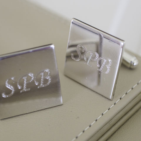 Sterling,Silver,Cufflinks,for,Engraving,engraved, initial, sterling, silver, cufflinks, 21st, 18th, 50th, birthday, anniversary, valentine, fathers day, gift