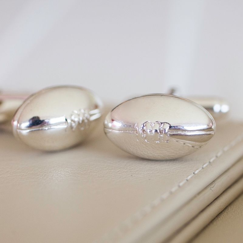 Sterling Silver Rugby Ball Cufflinks - product images  of