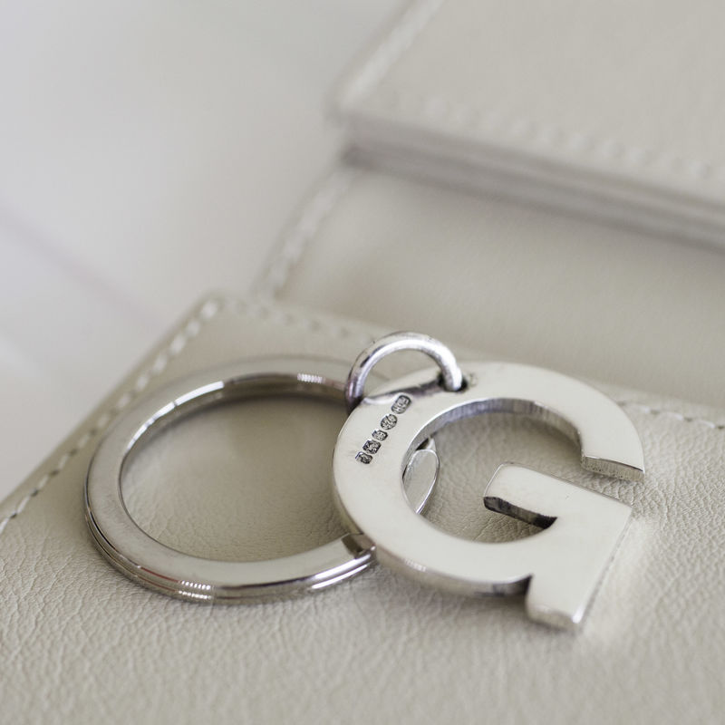 Sterling Silver Initial Keyring - product images  of