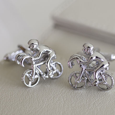 Racing,Cyclist,Cufflinks,silver, plated, racing, cyclist, bicycle, bike, mens, cufflinks, t bar,