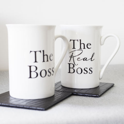 The,Boss,Matching,Mugs,wedding, gift, mugs, mug, the, boss, white, anniversary, christmas, present, couple