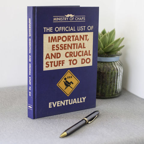 Important,,Essential,And,Crucial,Stuff,To,Do,Notebook,ladies, mens, mans, notebook, journal, notes, gift,