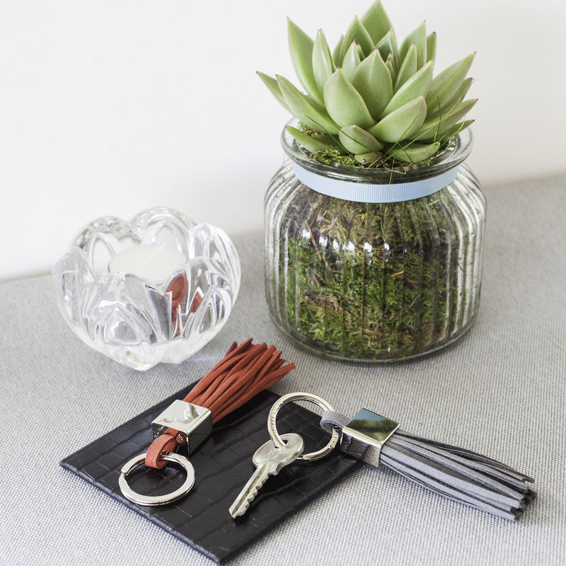 Leather Tassel Keyring - product images  of