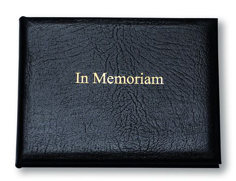 Black,Leather,Small,In,Memoriam,Book,in memoriam note book, book or remembrance, leather book,
