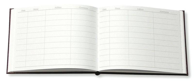 Leather Visitors Book - product images  of