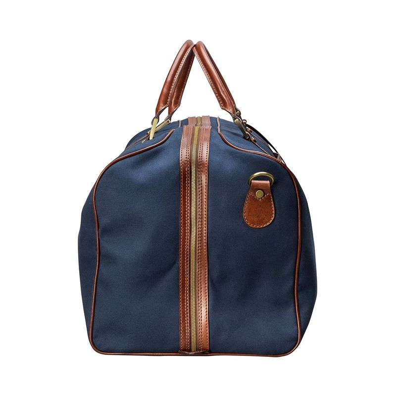 Mens Canvas and Leather Travel Holdall - product images  of