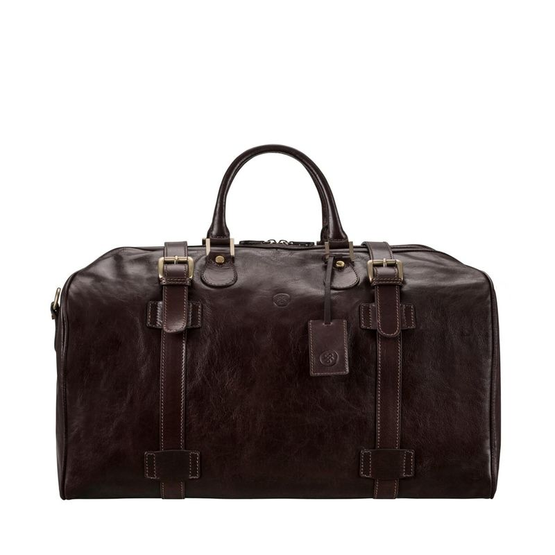 Italian Leather Travel Holdall - product images  of