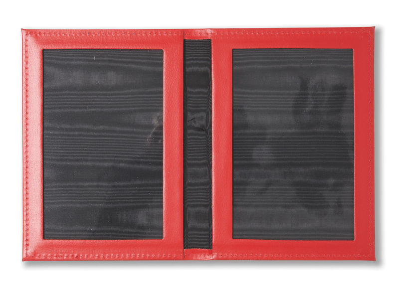 Red Leather Folding Travel Photo Frame - product image
