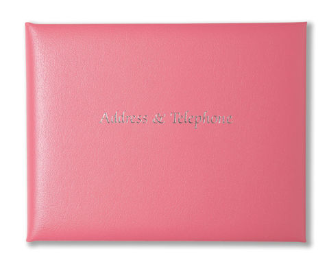 Leather,Address,and,Telephone,Book,leather, pink, address, telephone, book, red, lilac, lime, green