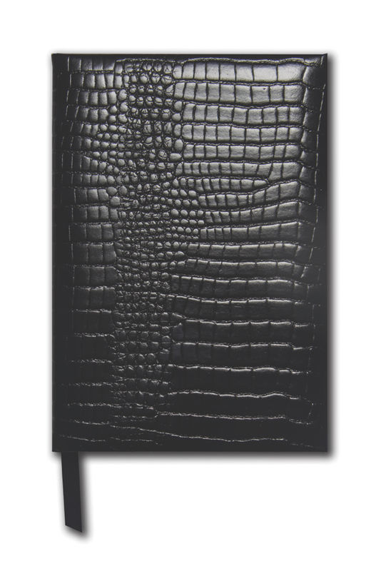 Black Grained Small Leather Notebook - product images  of