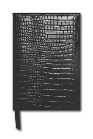 Black,Grained,Small,Leather,Notebook,small, brown, black, croc, grained, leather, notebook, note, book, journal