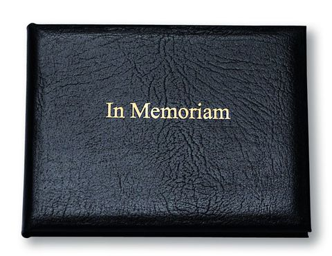Black,Leather,Medium,In,Memoriam,Book,in memoriam note book, book or remembrance, leather book,