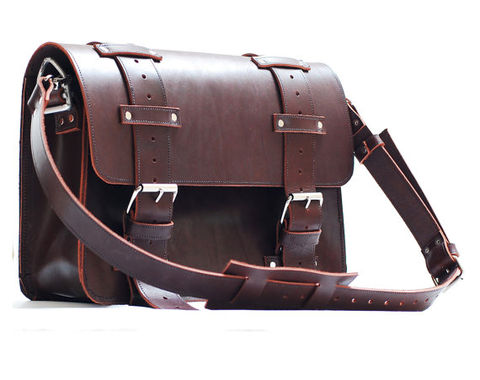 Leather Portmanteau Bag In Heavy Full Grain Limited Edition Product Images Of