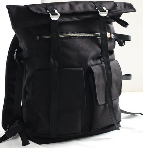 Waterproof Back pack,a large backpack, unisex black backpack, deep sea diving zippers back pack - product images  of