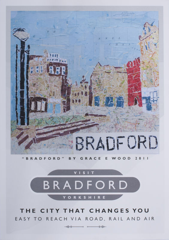 'Visit Bradford' Map Art Poster - product images