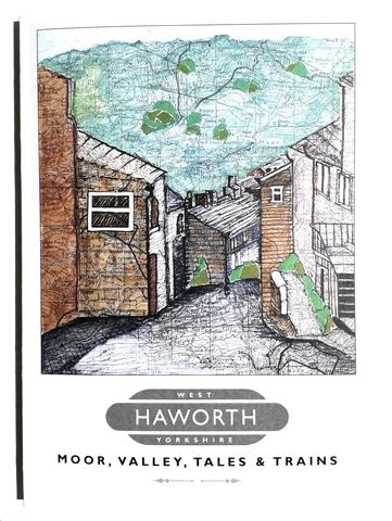 Haworth,Greetings,Card,Paperbird souvenirs, Haworth souvenirs, Haworth greetings card, Haworth poster, Bronte souvenir