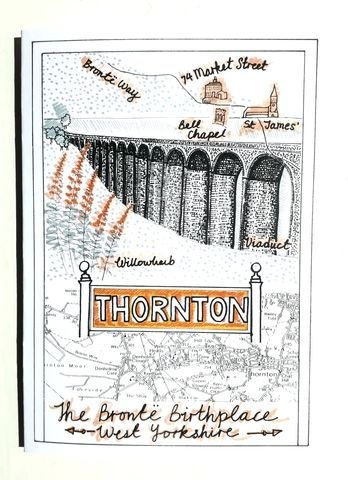 Thornton,Greetings,Card,paperbird souvenirs, Bradford souvenirs, Thornton greetings card,