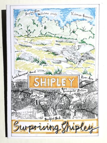 Shipley,Greetings,Card,Paperbird souvenirs, Shipley souvenirs, shipley greetings card