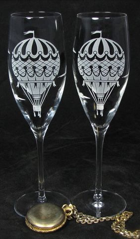 NEW,Hot,Air,Balloon,Champagne,Flutes,,Wedding,Gift,for,Bride,and,Groom,hot air balloon, vintage travel themed, brad goodell, bradgoodell, the wedding gallery, Weddings,Decoration,personalized,,toasting_flutes,champagne_flutes,champagne_glasses,wedding_flutes,engraved_wedding,personalized_wedding,etched_glass,dragonfly,dragon