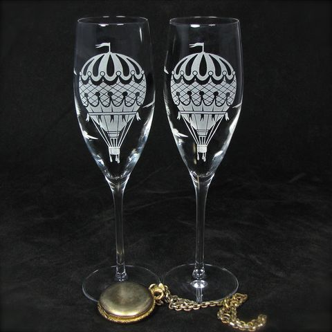 Hot,Air,Balloon,Champagne,Flutes,,Wedding,Gift,for,Bride,and,Groom,hot air balloon, vintage travel themed, brad goodell, bradgoodell, the wedding gallery, Weddings,Decoration,personalized,,toasting_flutes,champagne_flutes,champagne_glasses,wedding_flutes,engraved_wedding,personalized_wedding,etched_glass,dragonfly,dragon
