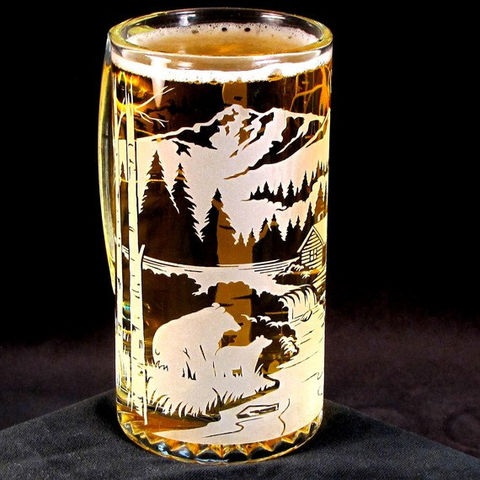 Etched,Glass,Beer,Mug,,Bear,Mountain,,Groomsmen,Gifts,for,Mountain,Wedding,groomsmen gift, rustic wedding, mountain wedding, Glass,Glassware,beer_mug,etched_glass,unique_gifts_for_men,cool_gifts_for_men,beer_stein,beer_glass,etched_beer_mug,glass_beer_mug,bear_mountain,gift for men,woodland,log_cabin,lead_free_glass,sand_
