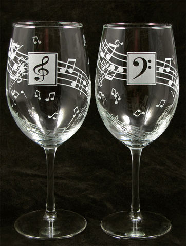 Music,Wine,Glasses,,Personalized,Gift,for,Lover,,Musician,Present, Music notes, musicians, music lovers, musica, Wine glasses, personalized, Wedding Decor, Etched glass, wine glasses,  Wine Glasses, wedding