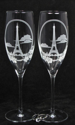 2,Eiffel,Tower,Toasting,Flutes,,Personalized,Champagne,Glasses,,Paris,Travel,Themed,Wedding,eiffel tower, paris france, destination wedding, travel themed wedding,engraved,toasting_flutes,champagne_flutes,champagne_glasses,tropical_beach,beach_wedding,wedding_toasting,sand_etched_clear_crystal_champagne_flutes