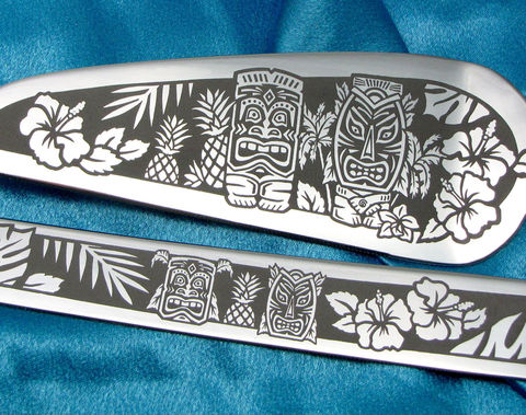 Tiki,Themed,Wedding,Cake,Server,and,Knife,Set,,Hawaiian,Wedding,,Personalized,Tiki Themed Wedding Cake Server and Knife Set, Hawaiian Wedding, Personalized, Bride and Groom Gift