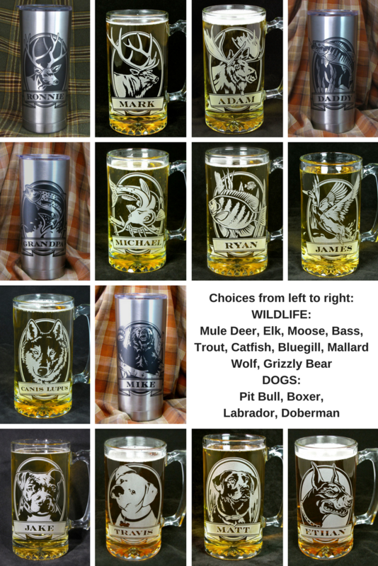 1 Personalized Insulated Cup, Trout Fish, Stainless Steel Hot / Cold Tumbler - product images  of