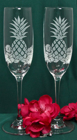 Pineapple,Hibiscus,Toasting,Flutes,,Hawaiian,Wedding,Gifts,for,Couple,,Flutes,Bride,and,Groom,Pineapple  Hibiscus Champagne Glasses, Hawaiian Wedding Gifts for Couple, Toasting Flutes for Bride and Groom wedding glasses, toasting flutes, champagne glasses